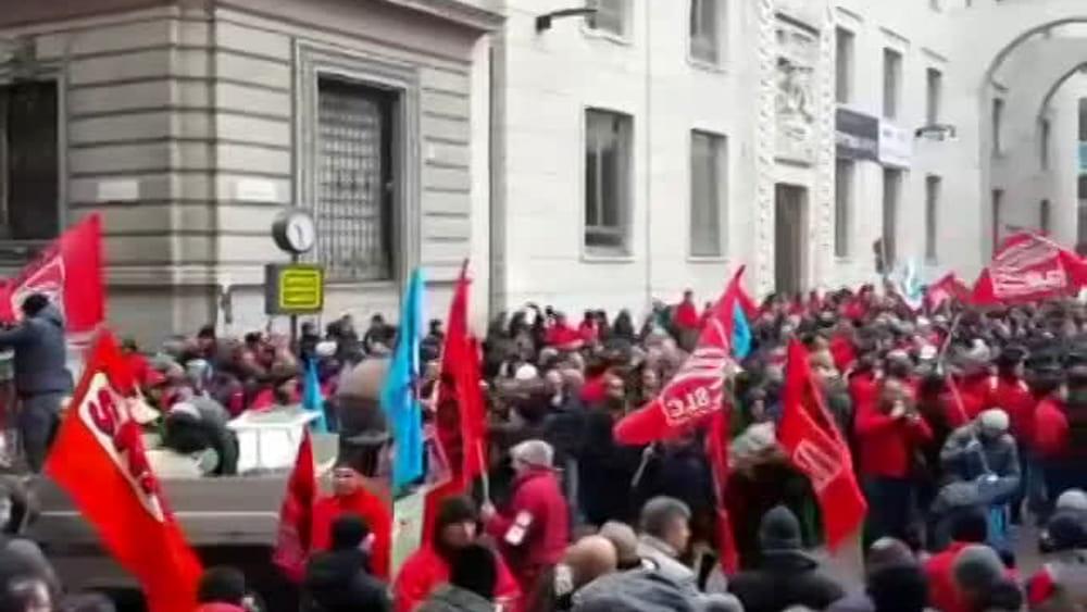 Protesta Lavoratori SLC